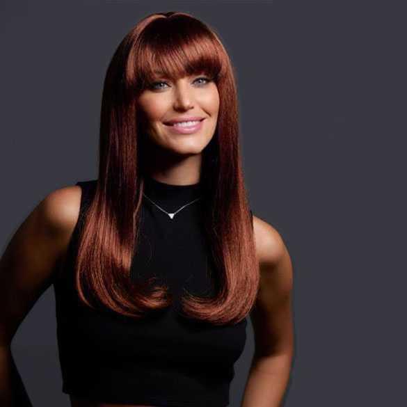 Pruik lang steil rood haar model Kelly kleur 30