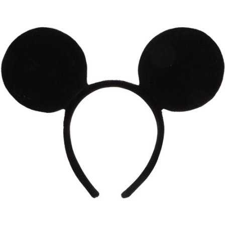 Zwarte pluche Mickey Mouse oren op haarband