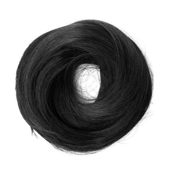 Haar scrunchie steil met elastiek zwart kleur 1