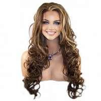 Lace pruik lang krullend haar model Holiday kleur FS8/27/613