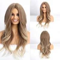 Pruik lang haar in blondmix met grove slag model 254