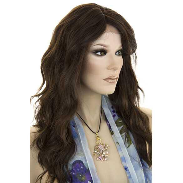 Lace pruik lang golvend haar model Tease kleur FS4-30