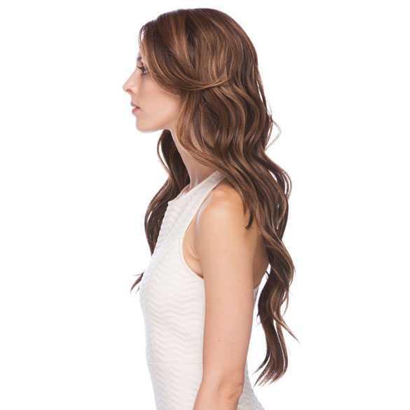 Lace pruik lang haar zonder pony model Laurel SOM7002