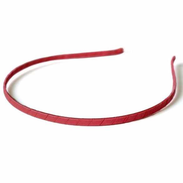 Diadeem / haarband metaal met satijnlint rood
