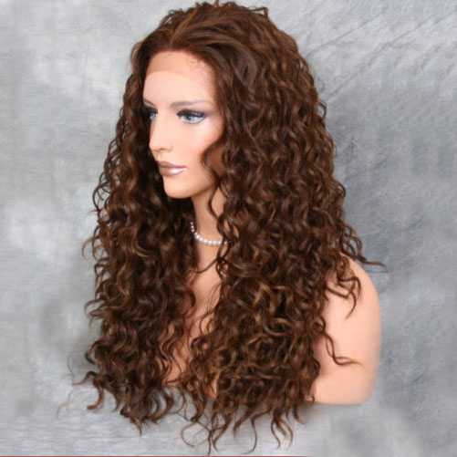 Lace front pruik met krullen model Shania kleur P4-27-30
