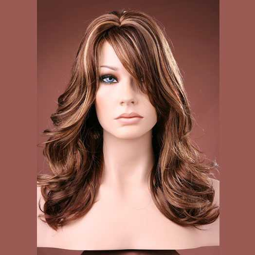 SUPER SALE : Forever Young pruik lang haar model Glow Girl kleur Hot Caramel