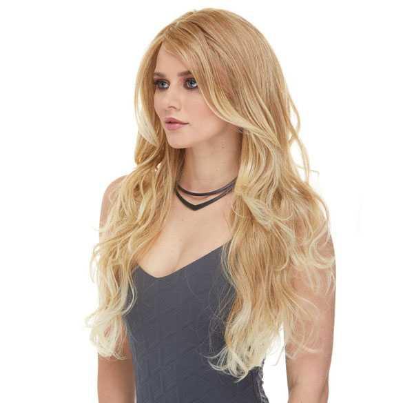 Luxe pruik lang haar blondmix model Cala kleur T27/613