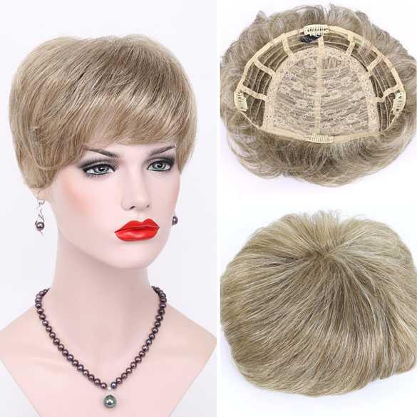 Haartopper met clips blondmix kleur H16-613