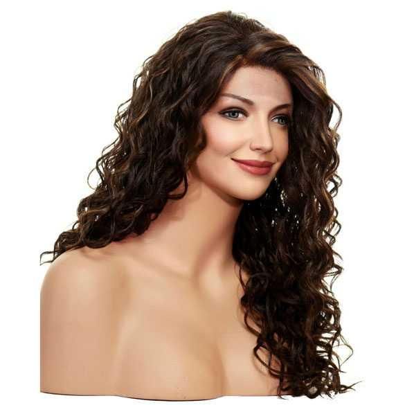Lace front pruik lang haar met krullen model Shania kleur FS4-27