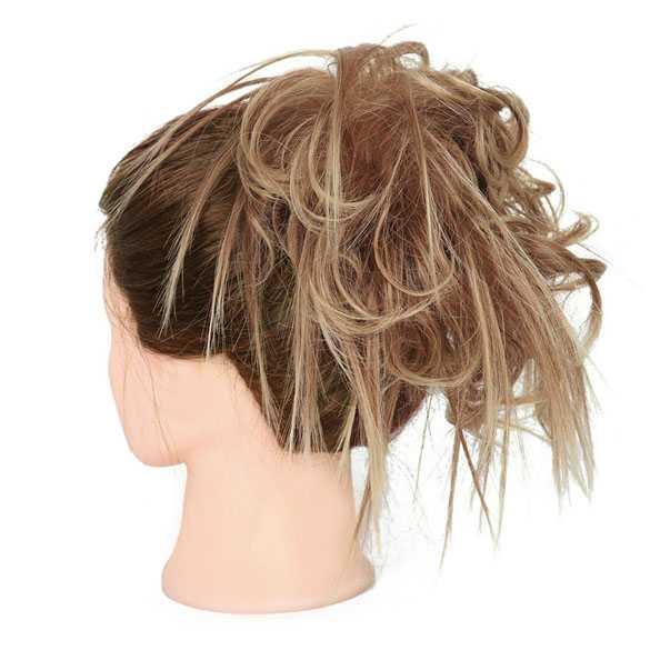 Warrige haar scrunchie met elastiek zandblond mix 30T4