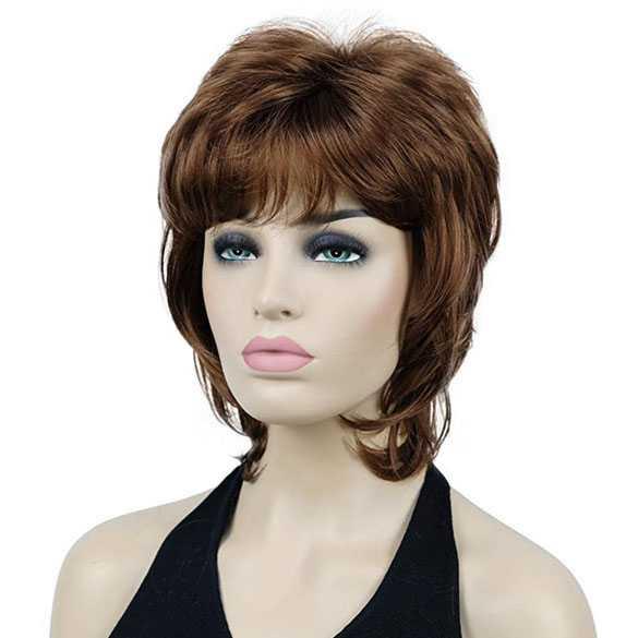 Moderne pruik schouderlang haar in laagjes kleur 30