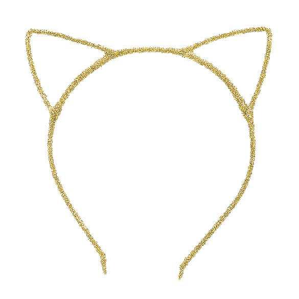 2 x Glinster haarband model katten oortjes goud