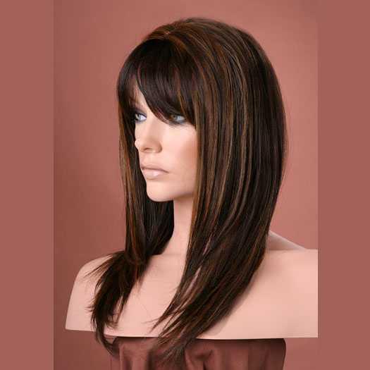 Pruik mix met echt haar model Miranda kleur P1B/30