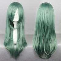 Carnaval pruik smaragdgroen lang haar in laagjes