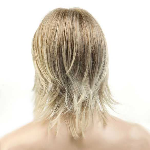 Mannenpruik halflang nonchalant haar blondmix