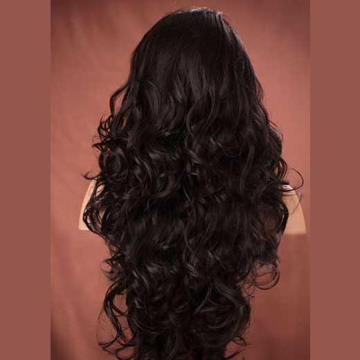 Lace pruik lang haar met krullen model Holiday kleur 4