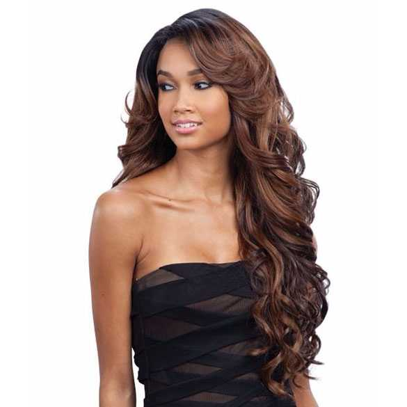 FreeTress lace front pruik lang golvend haar model Karissa