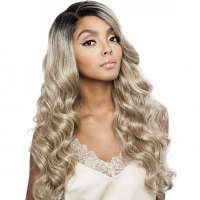 SALE : Brown Sugar lace pruik mix met echt haar model BSD2602 Rome Ari