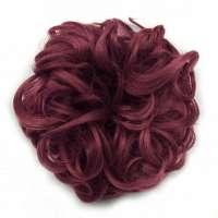 Haar scrunchie met elastiek wijnrood kleur 99J