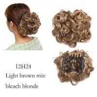 Chignon elastisch haarstukje / vlinderkam kleur 12H24
