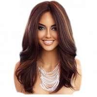 Lace pruik lang haar zonder pony model Saffron kleur FS4-27