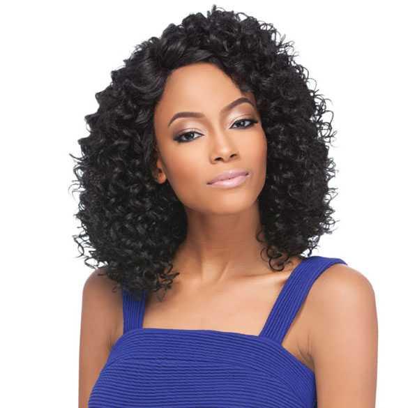 SALE : Lace front pruik schouderlang krullend haar model Donna