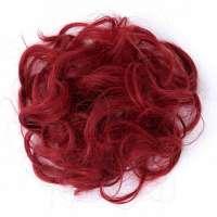 Haar scrunchie met elastiek bloedrood kleur M99J-89