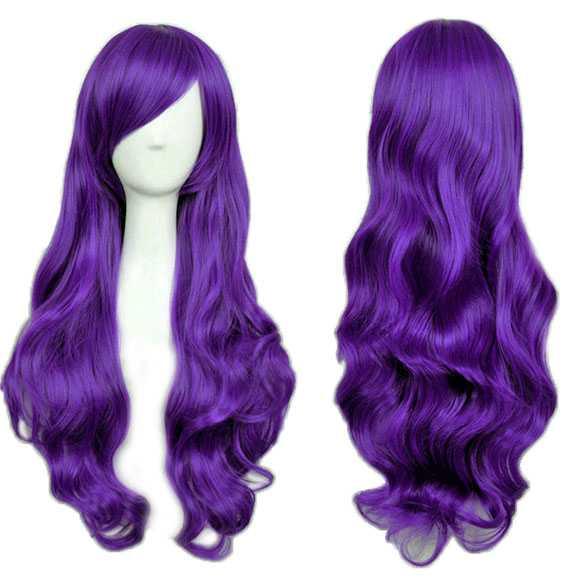 Cosplay Lolita pruik lang krullend haar paars