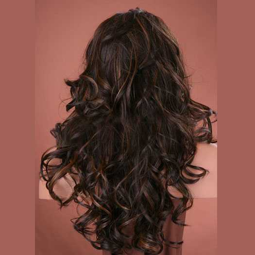 Lace pruik lang haar met krullen model Sofia kleur FS4/27