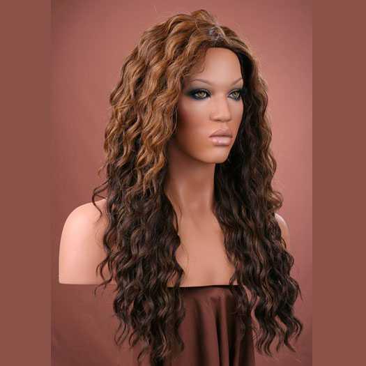 SALE : Pruik mix met echt haar model Brenda kleur P4-27