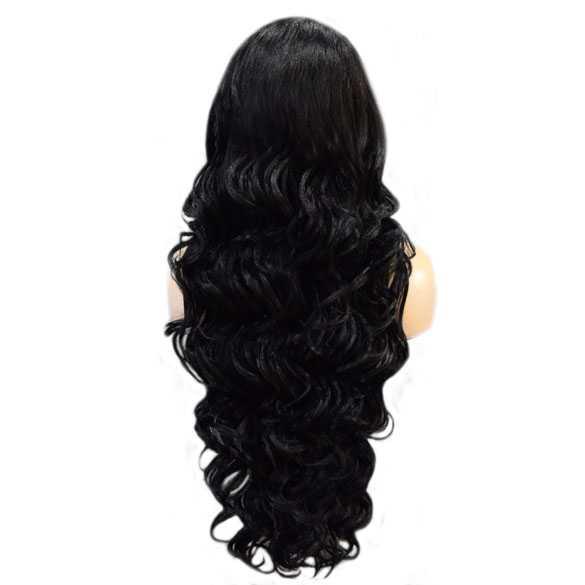 Lace pruik lang haar zonder pony model Primrose kleur 1b