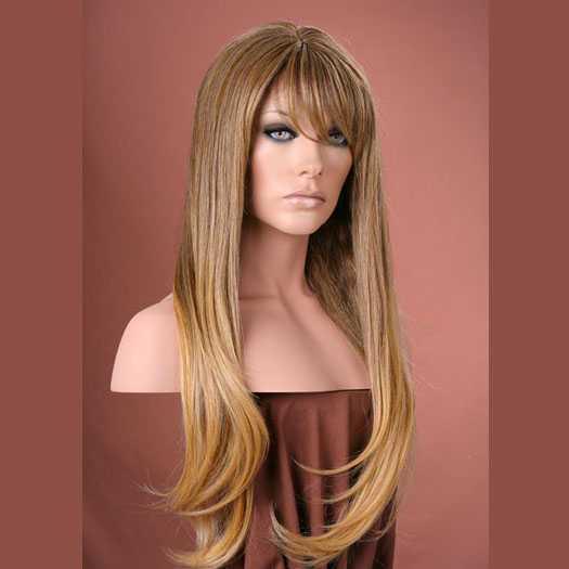 Pruik mix met echt haar model Trisha kleur T85