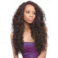 SALE : Lace front pruik lang krullend haar model Batik Peruvian