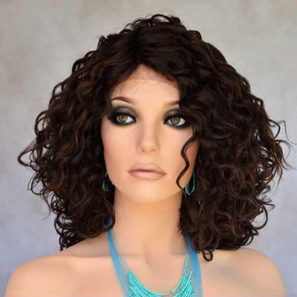 Lace pruik met krullen model Skylar kleur FS4-30