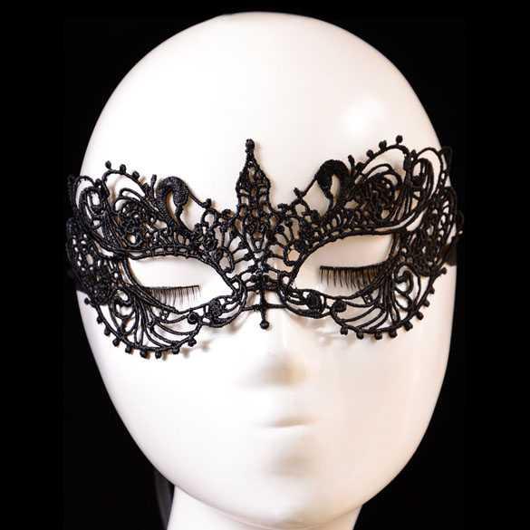 Venetiaans Gothic Lolita carnaval masker zwart kant