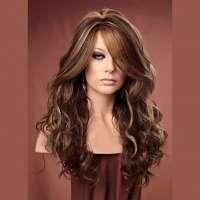 Pruik lang haar met krullen model Gabby kleur FS8/27/613