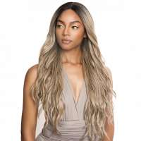 Brown Sugar swiss lace pruik mix met echt haar model BSX06
