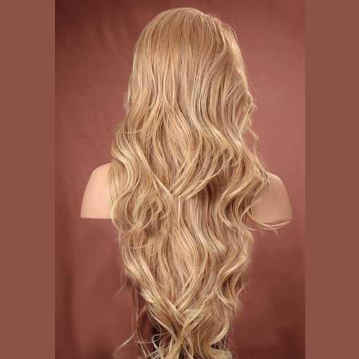 Lace pruik lang haar zonder pony model Kim kleur T27-613