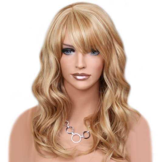 Pruik mix met echt haar model Waverly kleur MF27-613