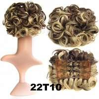 Chignon elastisch haarstukje / vlinderkam kleur 22T10