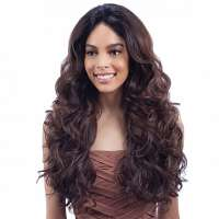 Lace pruik lang krullend haar zonder pony model Shakira
