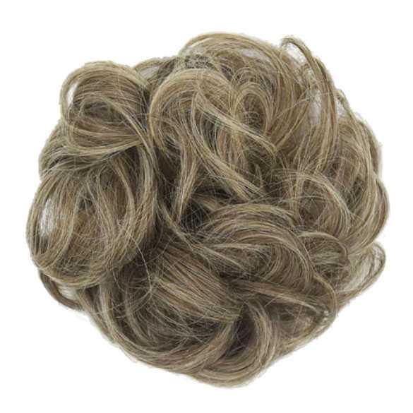 Haar scrunchie met elastiek zandblond grijs kleur 12C-613