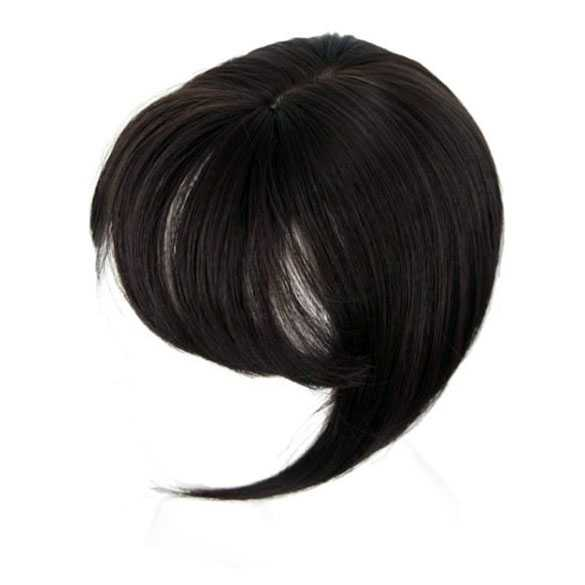 Clip in haartopper steil haar met pony kleur 2