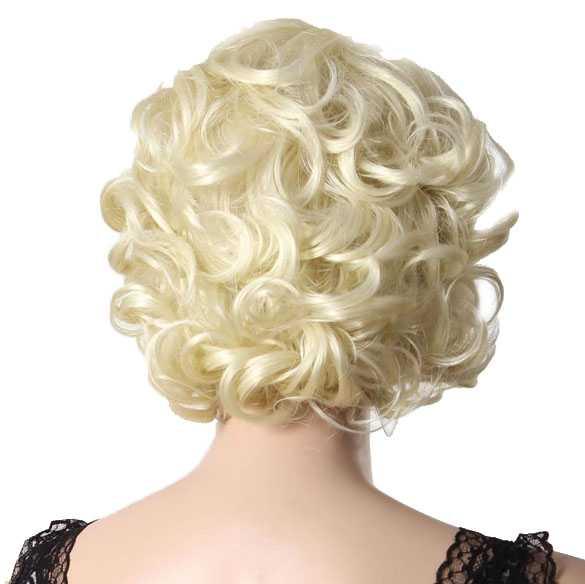 Marilyn Monroe pruik kort krullend haar