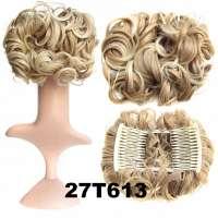Chignon elastisch haarstukje / vlinderkam kleur 27T613