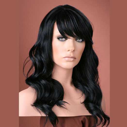 Pruik mix met echt haar model Waverly kleur 1