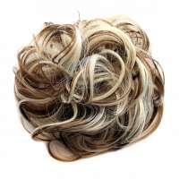Haar scrunchie met elastiek blond bruin kleur 6AH-613