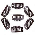 Pruik / extensions clips set 7 stuks BRUIN 32mm