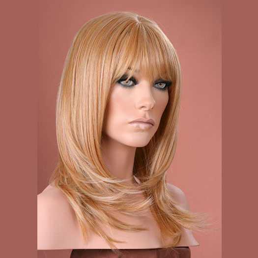 Pruik mix met echt haar model Miranda kleur F27-613