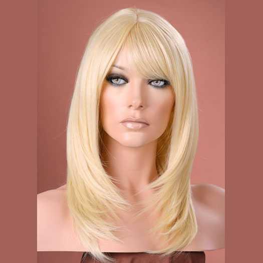 Pruik mix met echt haar model Miranda kleur 613